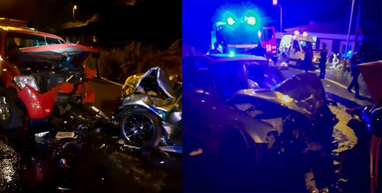 Este domingo se produjo un accidente de tráfico con tres heridos en Los Realejos