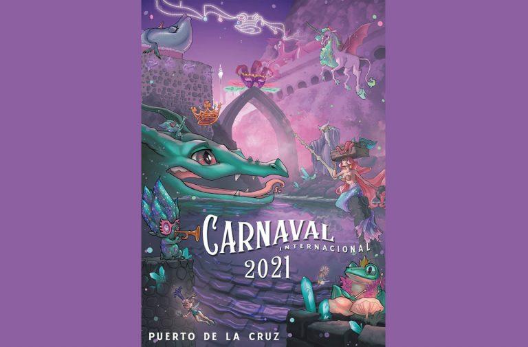 Este es el cartel del Carnaval Internacional de Puerto de la Cruz 2021