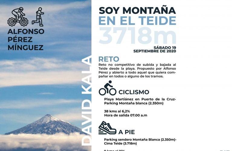 El sábado 19 de septiembre Alfonso Pérez, ciclista y montañero, realizará el reto «soy montaña» en el Teide